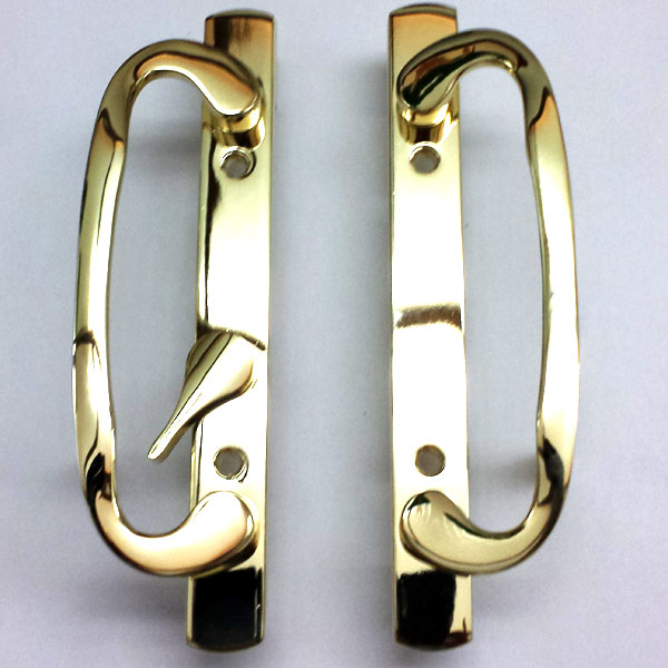 2265 Sash Controls Handle 13-245BP Brass Plated