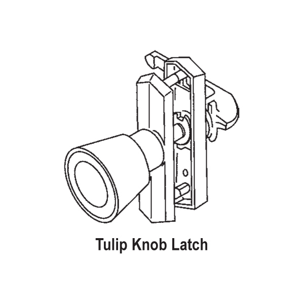 Knob-Push Pull Latch 17-51