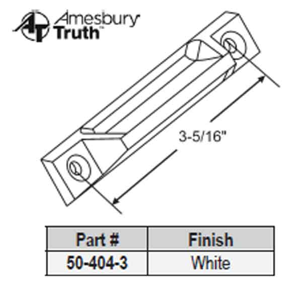 Extruded Sash Handles & Lifts 50-404-3