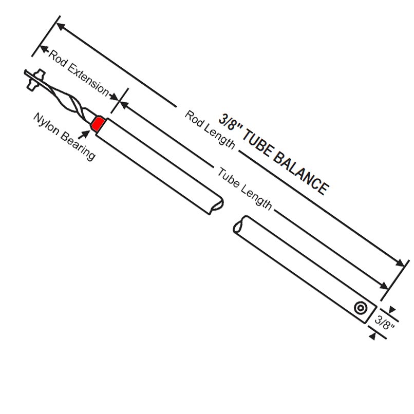 Red Bearing Extended Rod 31 Inch Balance 76-SMS31R