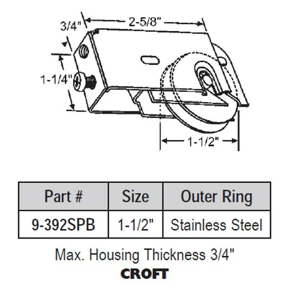 Croft Roller Precision Bearing 9-392spb