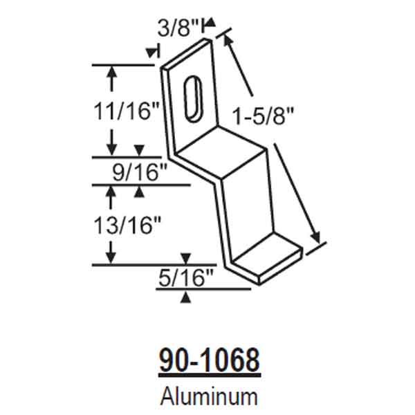 Aluminum Stretch Clip 90-1068