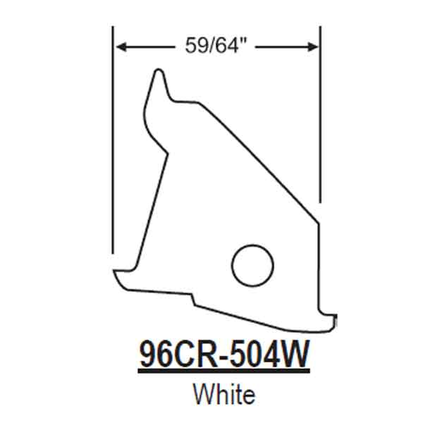 96CR White Mounting Bracket 96CR-504W