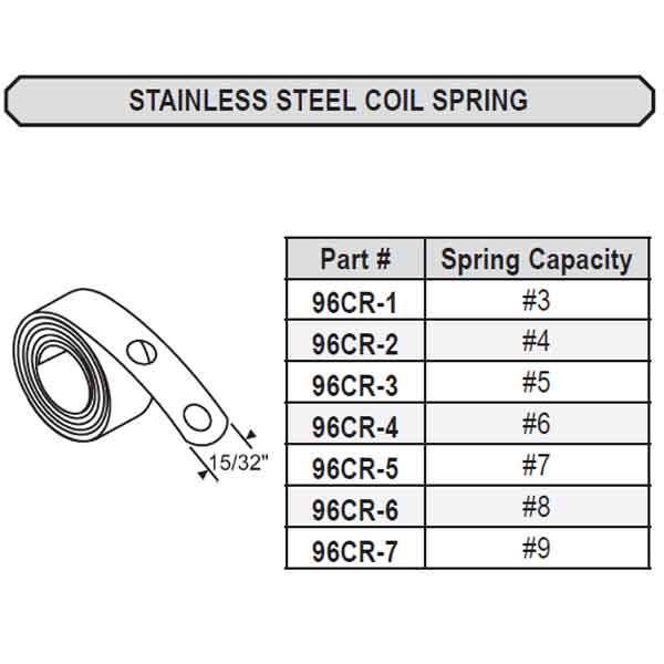 96CR Stainless Steel Coil Spring 96CR-6