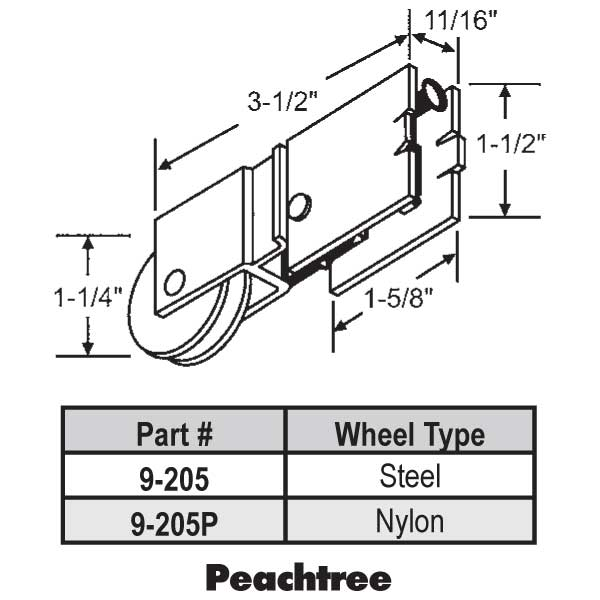 Patio Door Roller 9-205
