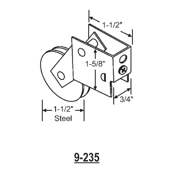 Patio Door Roller 9-235