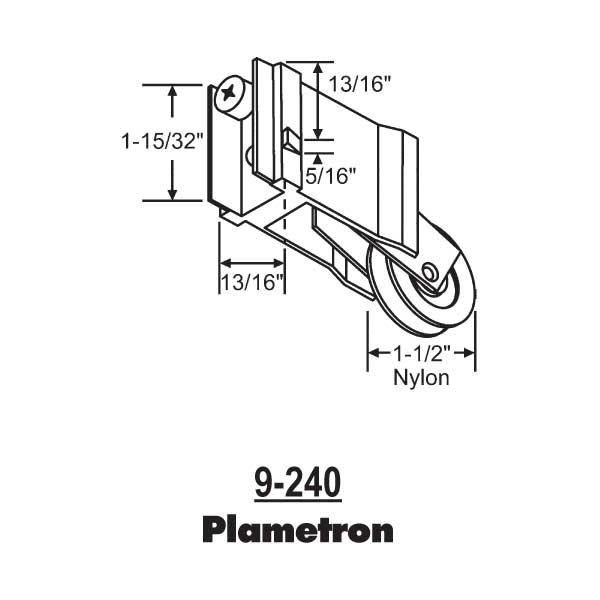 Patio Door Roller 9-240