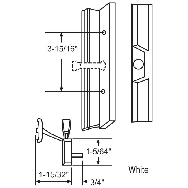 Handle Patio Door 900-21409W