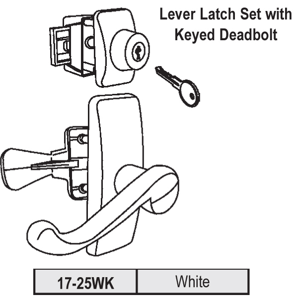 Lever Latch Set 17-25WK