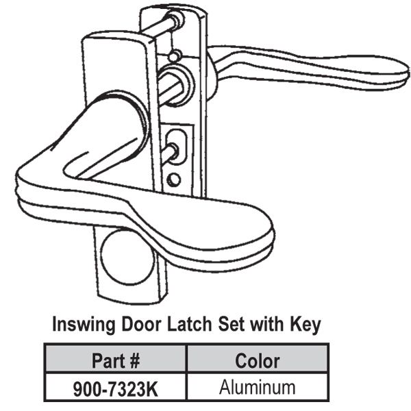 Lever Latch Set 900-7323W