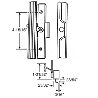 Handle patio Door 13-271WH