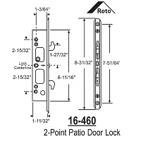 2 Point Mortise Lock 16-460 3