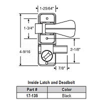 Inside Latch-Deadbolt 17-135