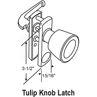 Knob-Push Pull Latch 17-59