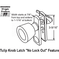 Knob-Push Pull Latch 17-61