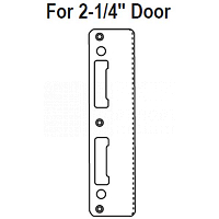 Hoppe 2 1-4 inch Door Latch & Deadbolt Strike
