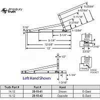 Truth 14.12 Egress Hinge Hand Opposite 28-15-42