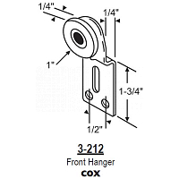 Door Bi-Pass Hanger 3-212
