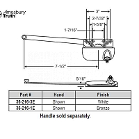 Sill Mounted Casement Operators 36-216-1E