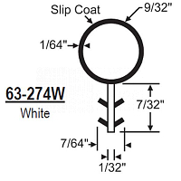 Bulb Weather Stripping 63-274W