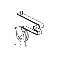 Screen Door Roller 10-306M