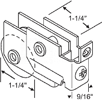 Patio Door Roller Assembly 9-216