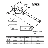 Front and Rear Mount Casement Operator 36-222-6