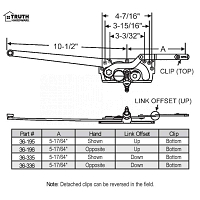 Sill Mounted Casement Operator 36-335