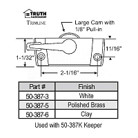 Sweep and Sash lock 50-387-6