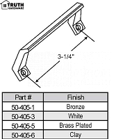 Extruded Sash Handles & Lifts 50-405-6