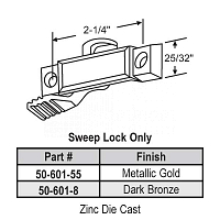 Sweep and Sash lock 50-601-55