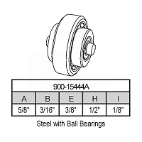 Sliding Window Wheels 900-15444A