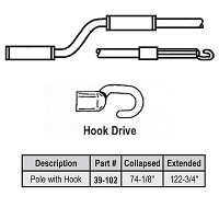6-10 ft Hook Telescoping Pole 39-102