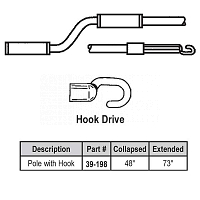 4-6ft Hook Telescoping Pole 39-198