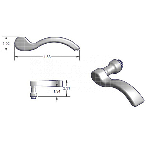 Amesbury Truth 100 Series Swing Door Handle 2