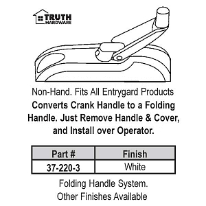 Enrtygard Folding Handle - Cover Set 37-220-8 3