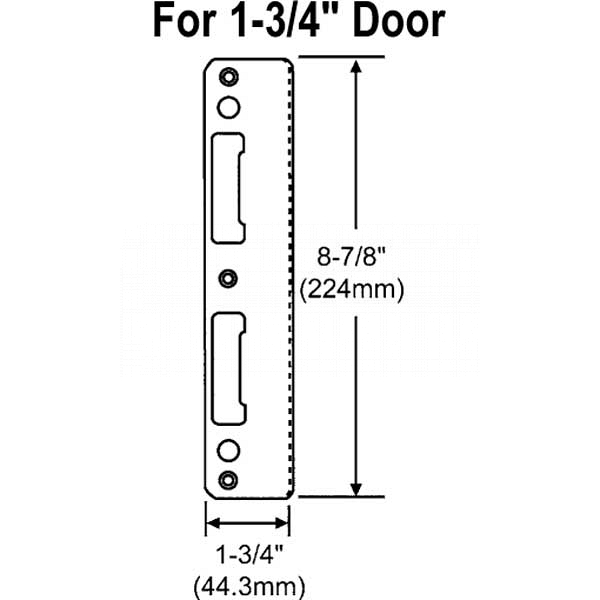 Stainless Steel Latch and Deadbolt Strike 8787747 1