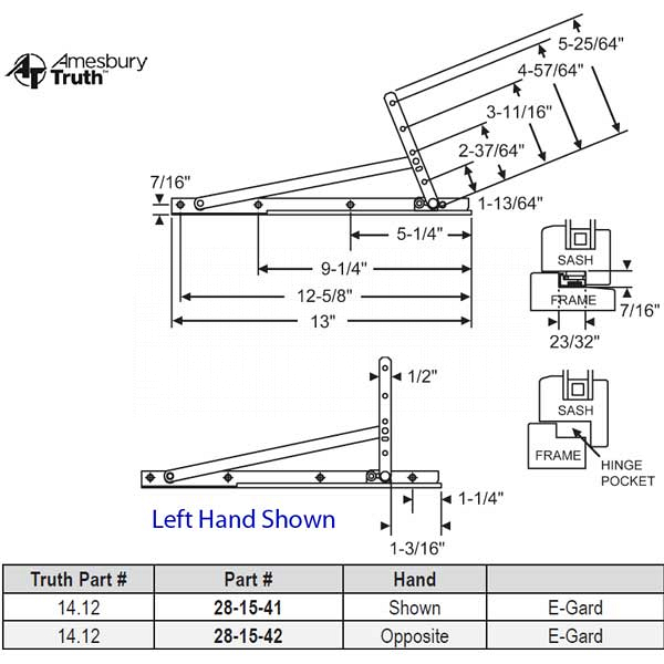 Truth Egress Hinge Hand Shown 28-15-47 1