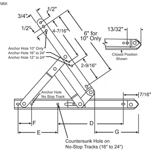 Truth 301 SS Awning Hinge 28-28-3-45 2