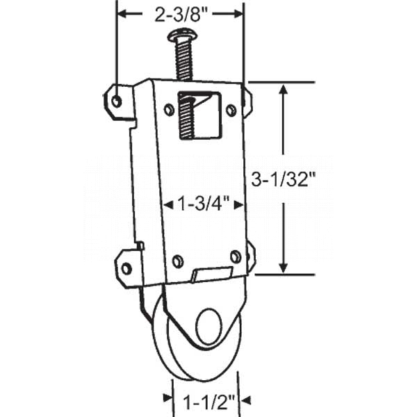 Wardrobe Door Bottom Roller 3-348 1