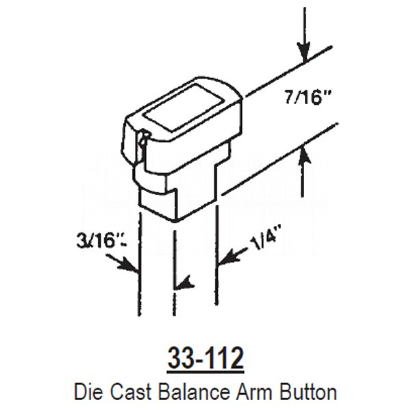 Balance Arm Button 33-112 1