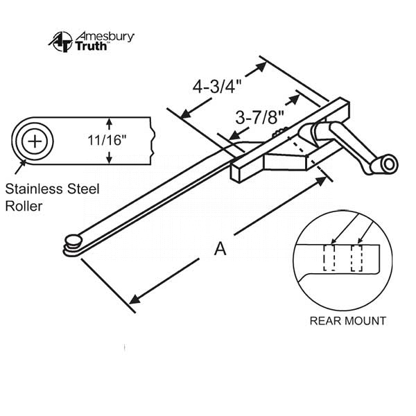 Rear Mount Casement Operator 36-227-3 1