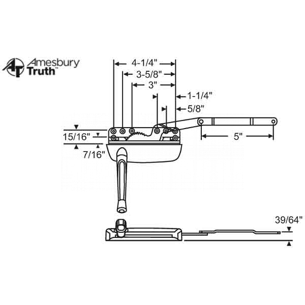 Sill Mounted Casement Operator 36-373-3 1