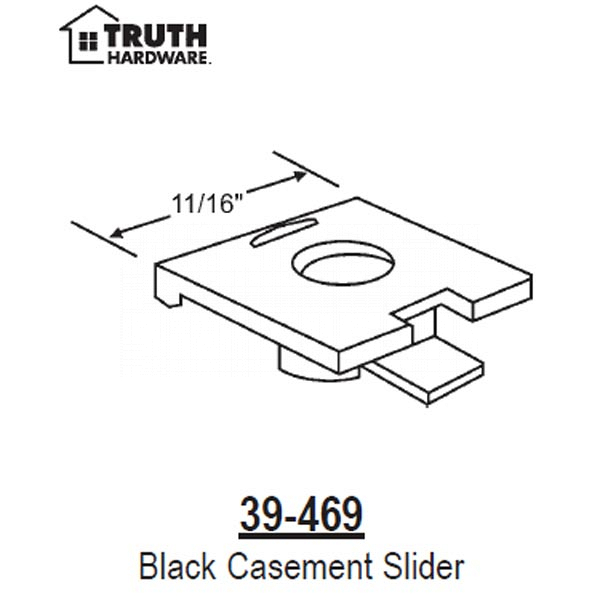 Black Casement Slider 39-469 1