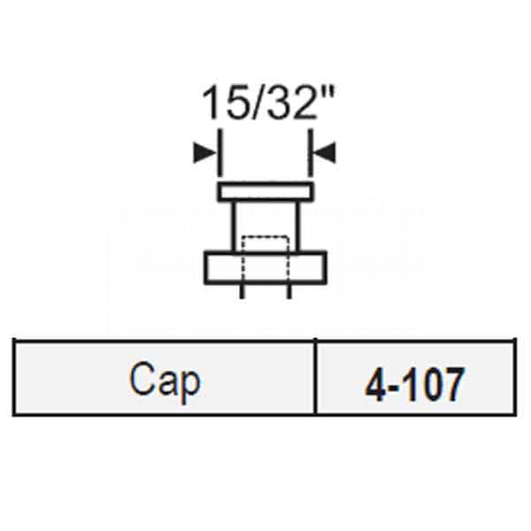 Bi Fold Closet Door Pin Assembly Cap 4-107 1