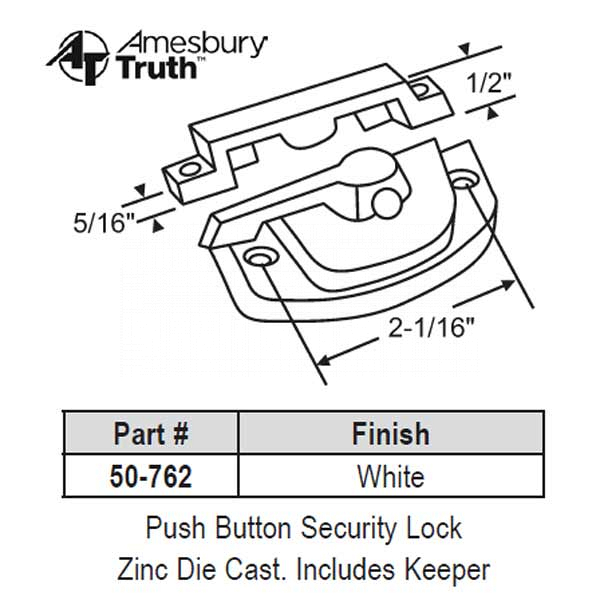 Sweep and Sash locks 50-762 1