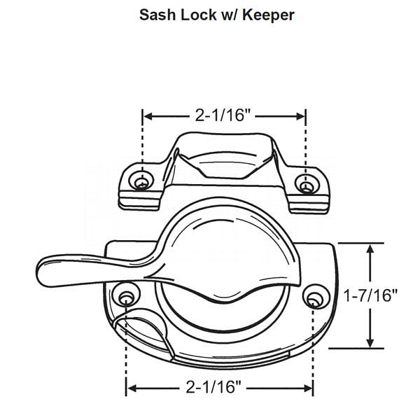 Sash Lock + Keeper 50-973-3 1