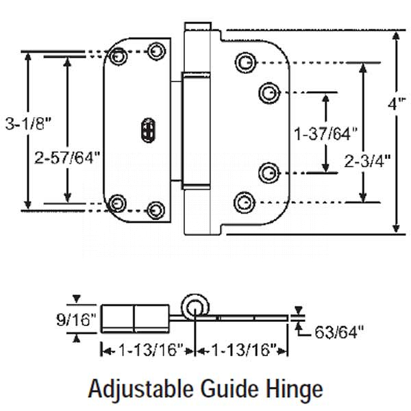 Adjustable Guide Hinge 56-223W 1
