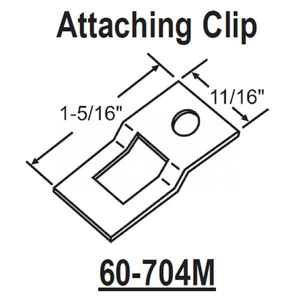 Attaching Clip 60-704M 1