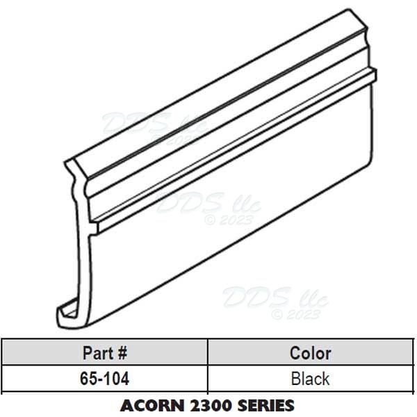 Acorn Snap In Vinyl Glazing Bead 65 104w 65 104w